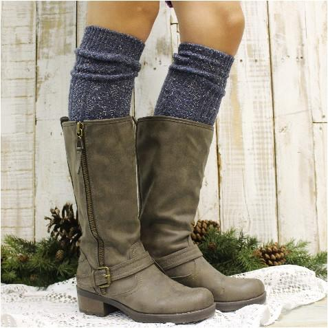 sale alpine tall boot socks - vintage blues - catherine cole studio - 1 UPEZPUR