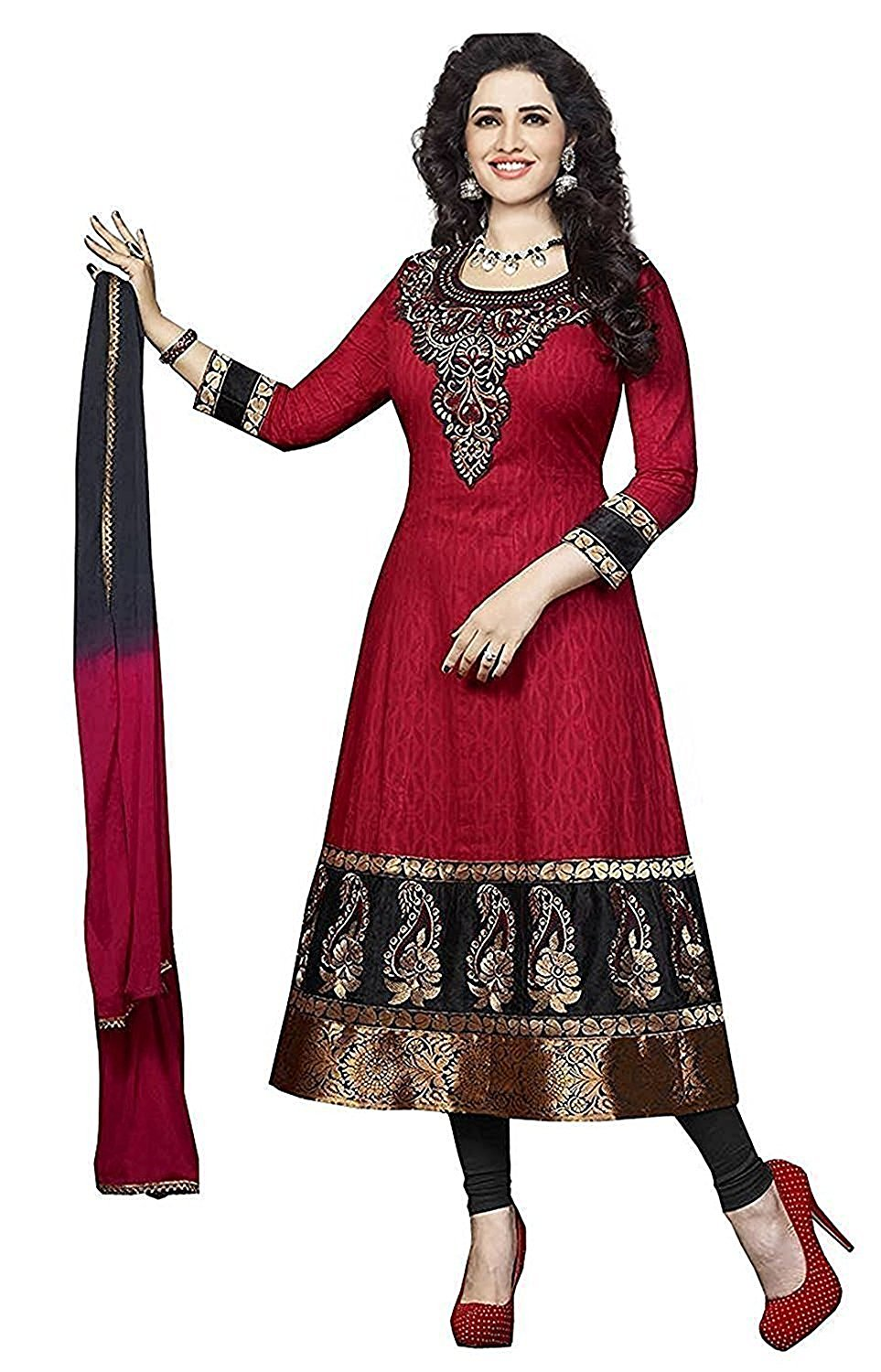salwar suits globalia creation womenu0027s cotton salwar suit set (gol-02334e112_dark_free  size) CHNALKS