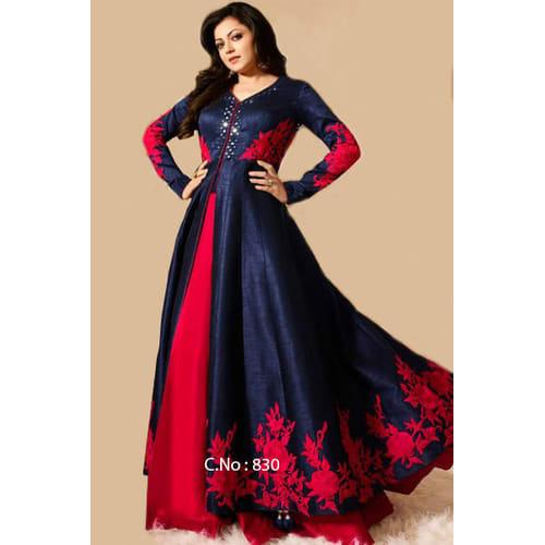 salwar suits nitya madhubala blue salwar suit - 830 EQMAOAN