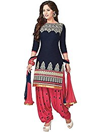 salwar suits womenu0027s cotton patiala semi-stitches salwar suit YSSLIQY