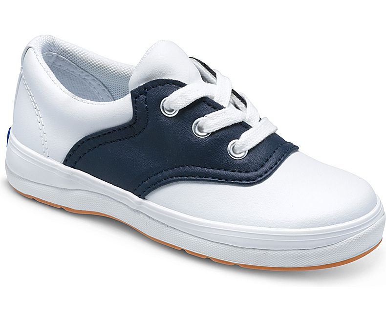 school shoes school days sneaker, white / classic navy, dynamic ... RMBQLNJ