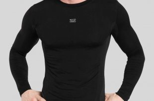 seamless long sleeve compression shirt STTSHDF