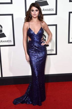 selena gomez grammy 2016 backless evening dress red carpet celebrity dresses  tcd6541 ... SVRHIOP