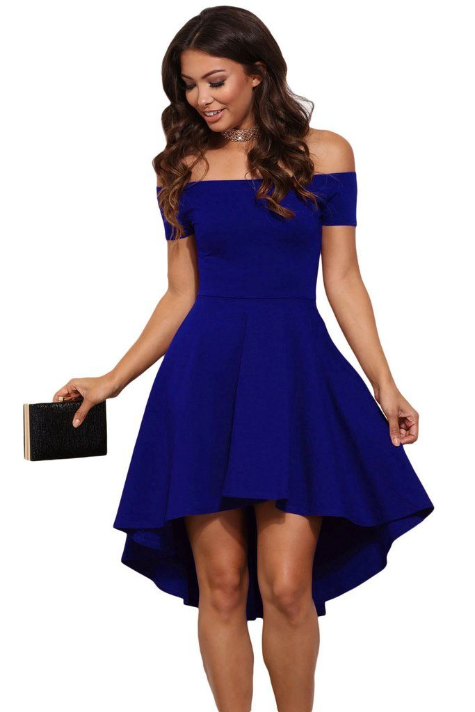 semi formal dresses blue all the rage skater high low cocktail dress YDNGPCN