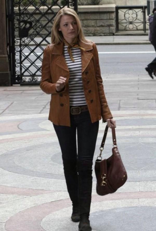serena van der woodsen style jacket blake lively gossip girl serena van der woodsen leather jacket  trench coat OYUJKWV