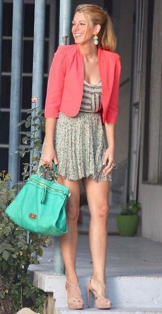 serena van der woodsen style jacket serena van der woodsen bag jewels skirt shoes top NSSOXQH