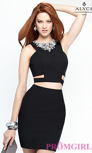 sexy black dresses celebrity prom dresses, sexy evening gowns - promgirl: al-4452 PRPTLVB