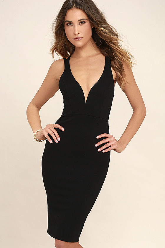 sexy black dresses sexy black dress - midi dress - bodycon dress - $45.00 TAYVXRO