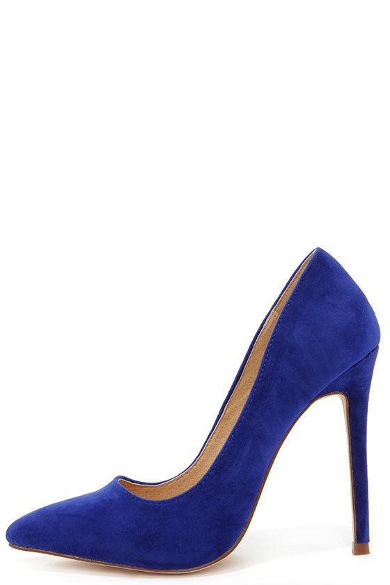 sexy blue pumps - pointed pumps - royal blue heels - $30.00 KQBCQAB
