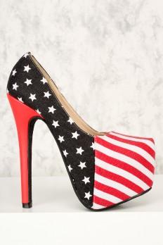 sexy high heels sexy american flag patriotic platform pump ami clubwear high heels ZBGYQWT