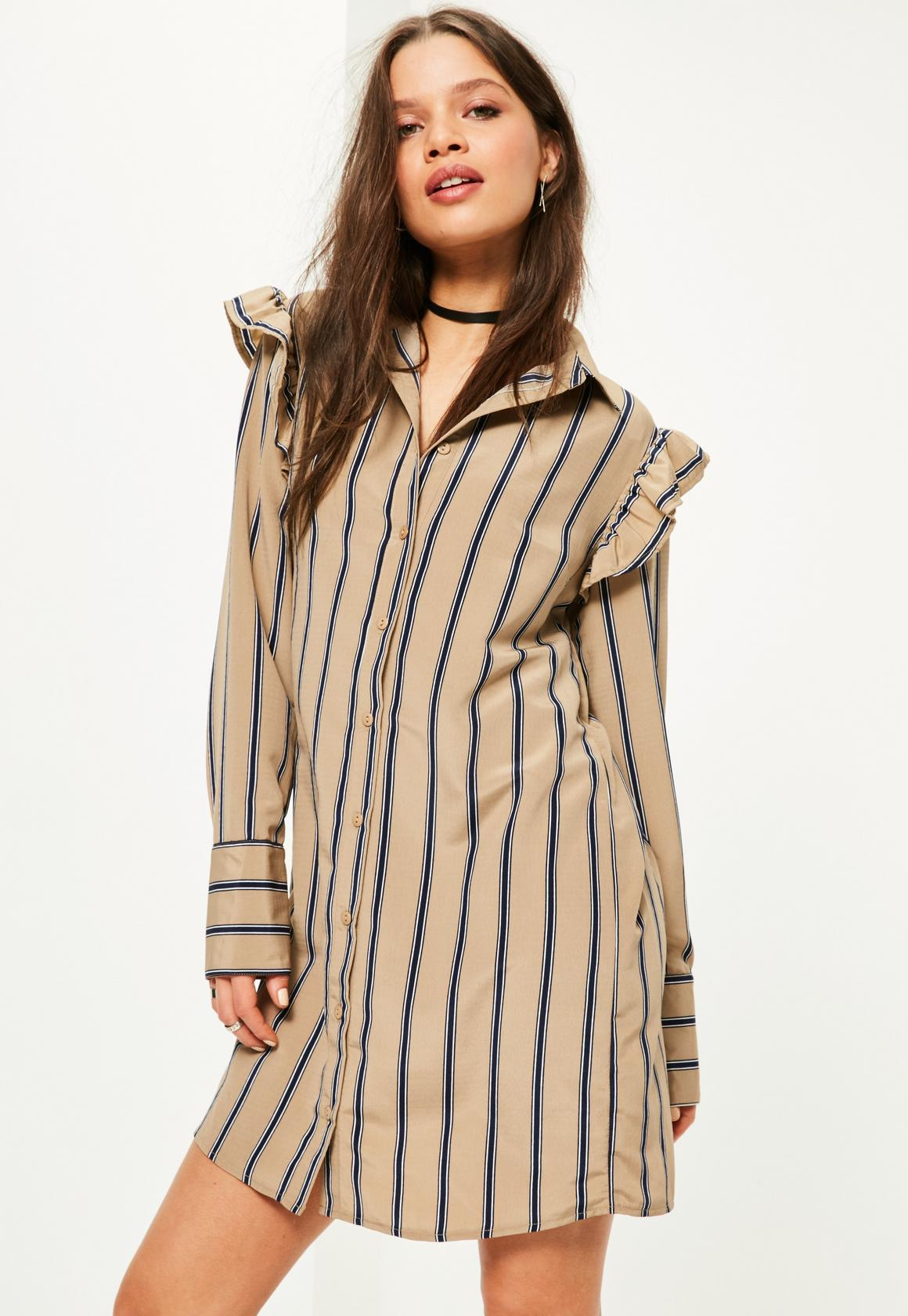 How to fashion yourself with shirt dress?