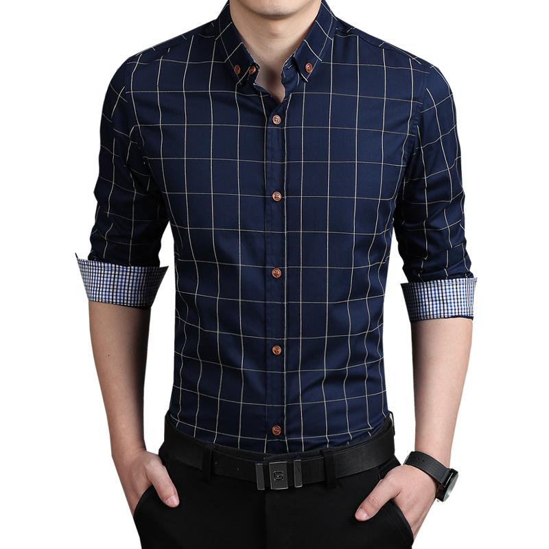 shirts for men 2015 new autumn fashion brand men clothes slim fit men long sleeve shirt men GGMQTBU