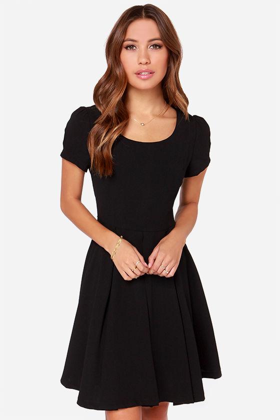 short black dress bakewell black dress - lbd - short sleeve dress - $75.00 LPKRUHN