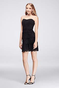 short black dress short sheath strapless graduation dress - davidu0027s bridal CFFXNSN