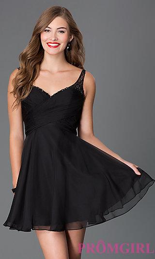 short black dress short sweetheart open back dress-promgirl HZKPSTB