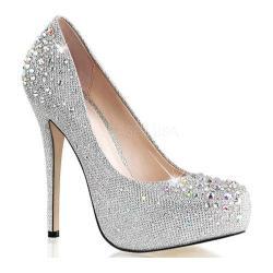 silver heels womenu0027s fabulicious destiny 06r silver glitter mesh fabric GQJNRJQ