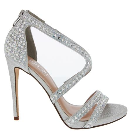 silver shoes de blossom collection angie55 - silver SRXNYFU