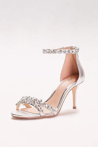 silver shoes: heels u0026 flats for any occasion | davidu0027s bridal UORCGAO