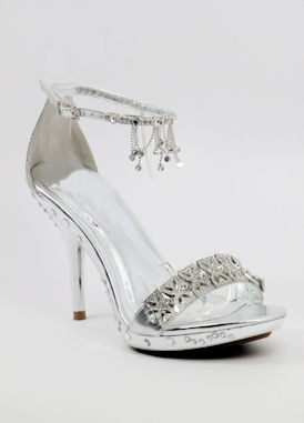silver shoes with 4 NPBYTGO