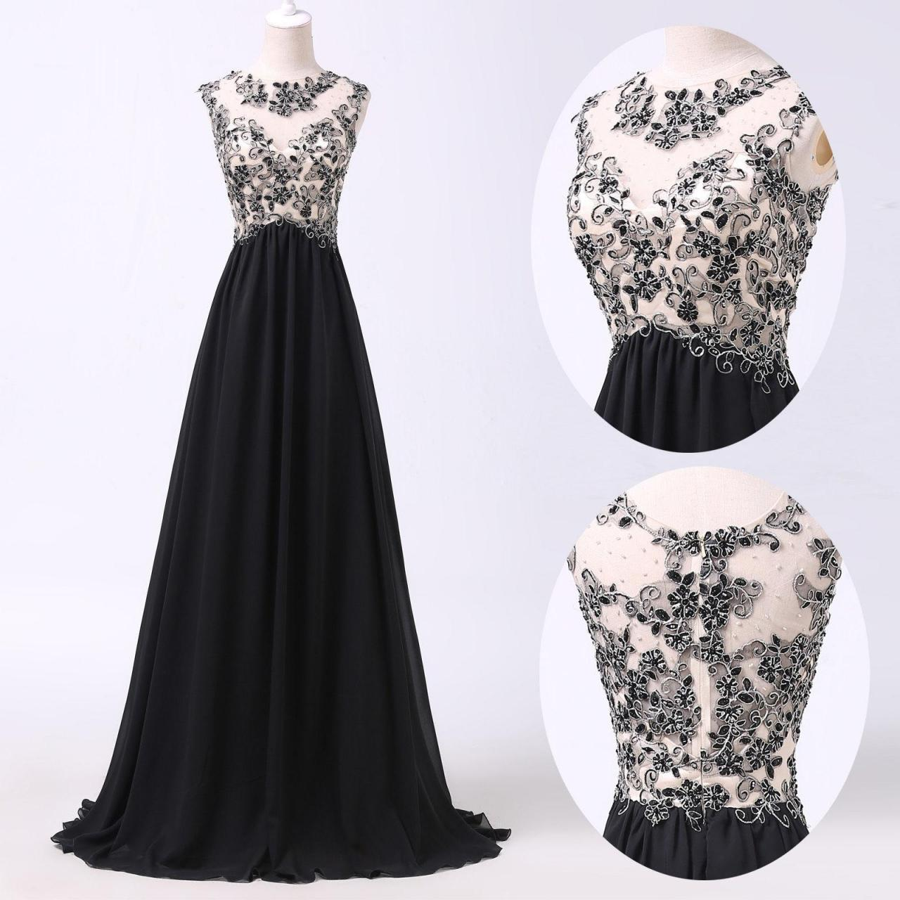 simple dresses a line prom dresses,black lace prom dress,simple prom dress,modest evening  gowns,cheap party dresses,graduation gowns,lace YHJRALU