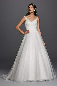 simple wedding dresses long ballgown simple wedding dress - davidu0027s bridal collection EWHYWUH