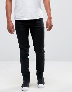 skinny jeans for men asos skinny u0027lawrenceu0027 jeans in black PEBASGH