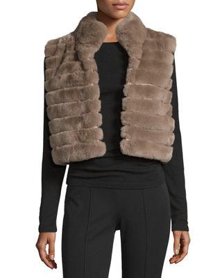 sleeveless rabbit fur vest ZRCSYQH