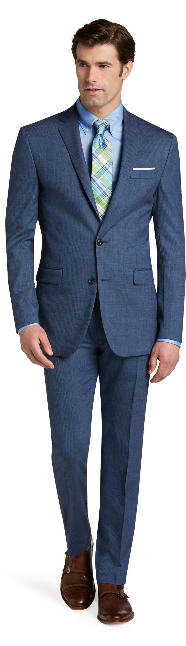 slim fit suits menu0027s suits, 1905 collection slim fit herringbone suit - jos a bank WMAFFXH