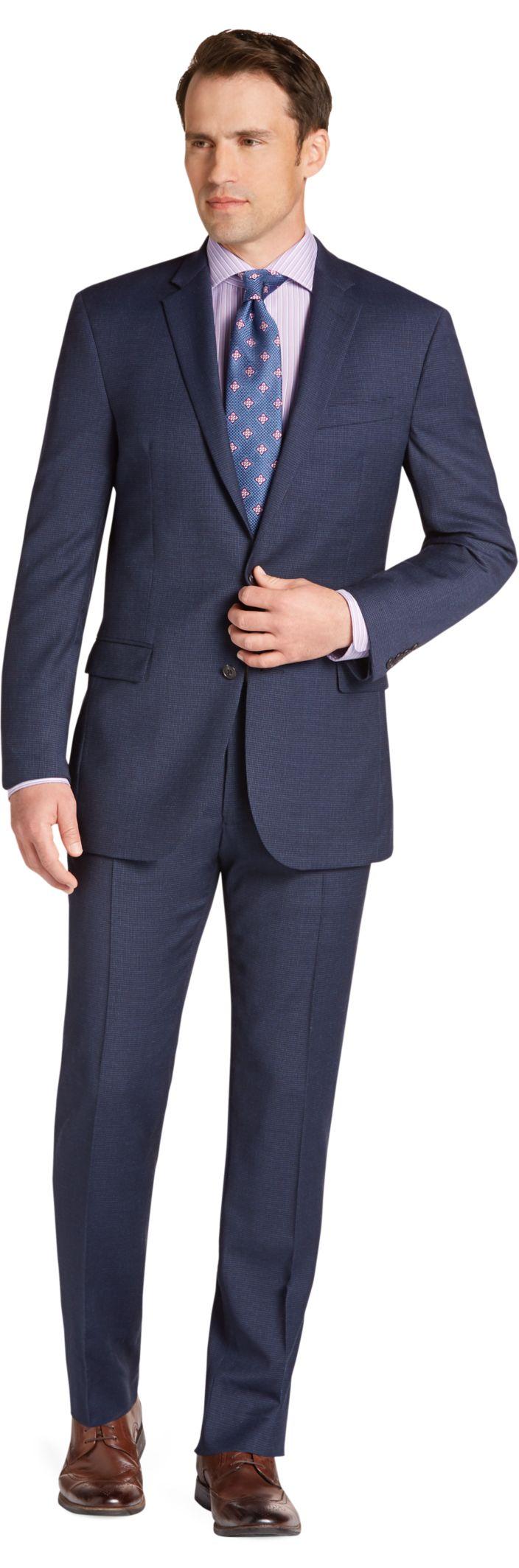 slim fit suits menu0027s suits, 1905 collection slim fit mini check suit - jos a bank EPEDSOC