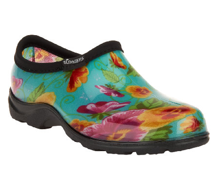 sloggers waterproof pansy garden shoes ... OXQOKJT