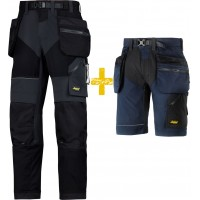 snickers trousers 6902 u0026 6904 trousers plus shorts kit flexiwork ripstop  trouser and shorts XGIPUEC