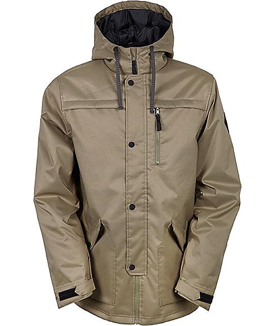 snowboard jackets 686 parklan flight tobacco insulated snowboard jacket PTRONXT