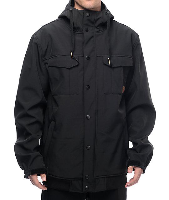 snowboard jackets empyre luger m65 softshell 10k black snowboard jacket OQZUCHB