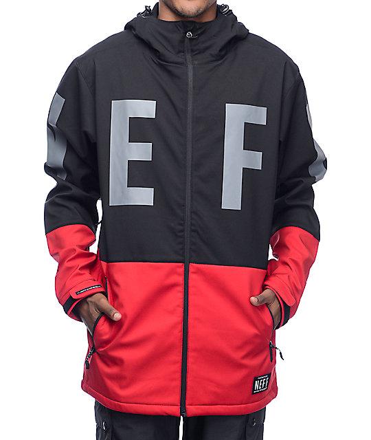 snowboard jackets neff daily 10k black u0026 red softshell snowboard jacket WGTGUDG