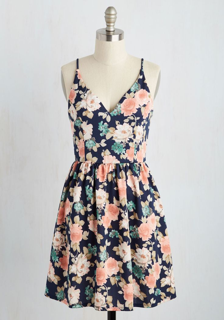 spring dresses find your grace in the sun dress in navy - multi, blue, floral, QUDQGAR