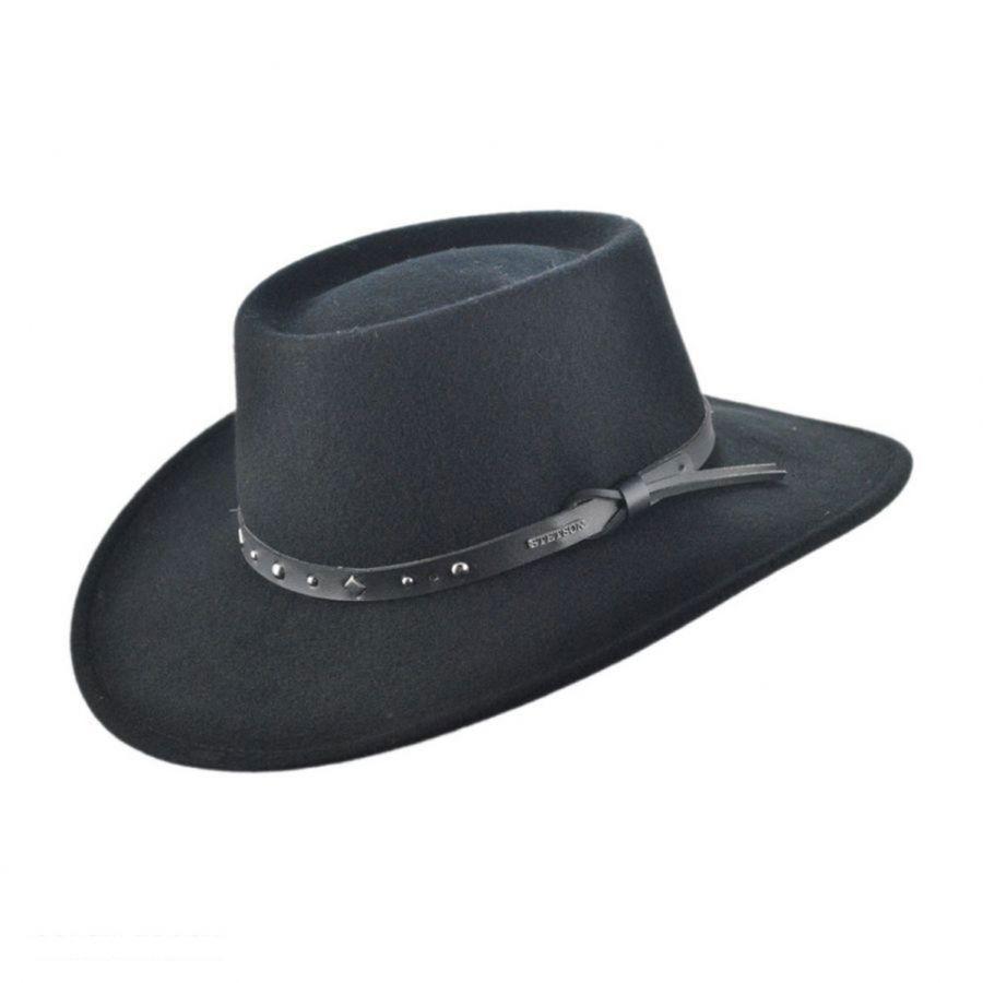 stetson hats black hawk crushable cowboy hat BVVGHLG