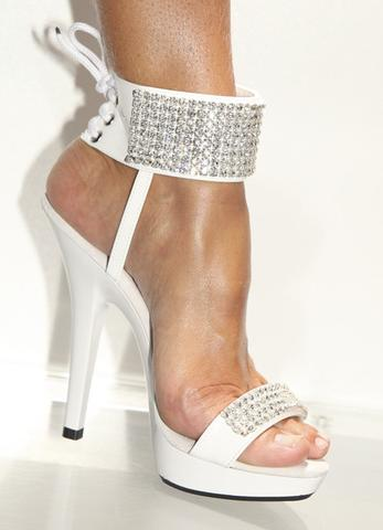 stripper shoes swarovski rhinestone 8 row ankle cuff shoes EBANZGL