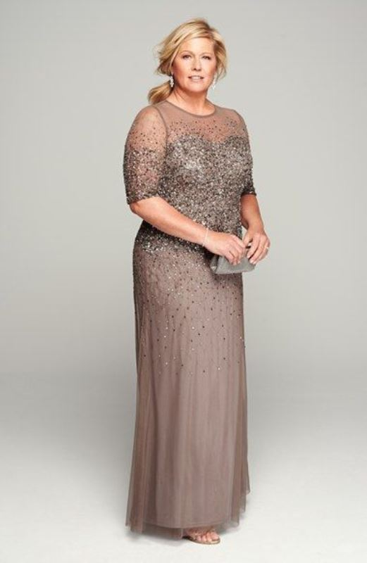 stunning plus size mother of the bride dresses JSKSVCC