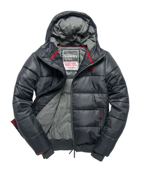 superdry hooded puffer jacket grey QFFGIHK