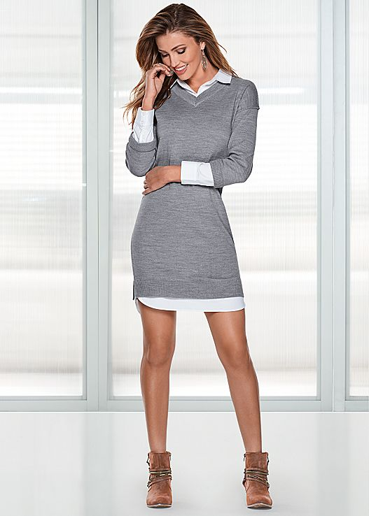 sweater dresses collar detail sweater dress $39 OXPEDIX