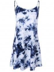 sweet tie-dyed open back summer dress for women FLDNDLG