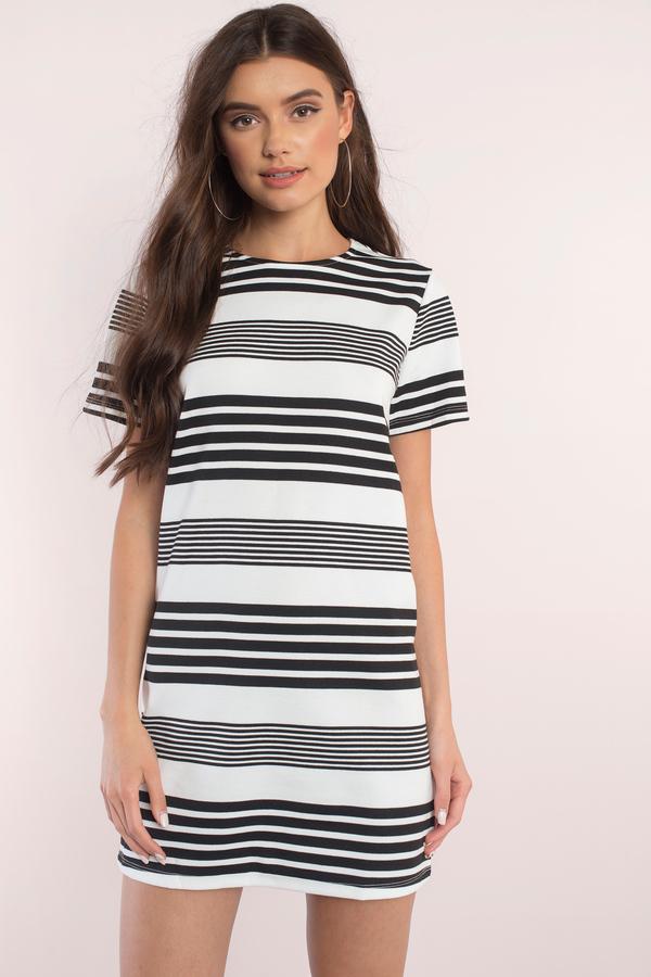 t shirt dresses, black u0026 white, getaway t-shirt dress, ... WMJXACH