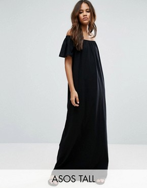 tall maxi dresses asos tall off shoulder maxi dress ISRMGCP