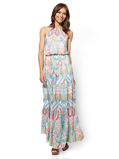 tall maxi dresses halter maxi dress - paisley - tall - new york u0026 company ... QTWVFZL