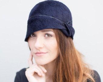 the lea cloche hat, winter felt millinery chapeau, made to measure JDIOVTY