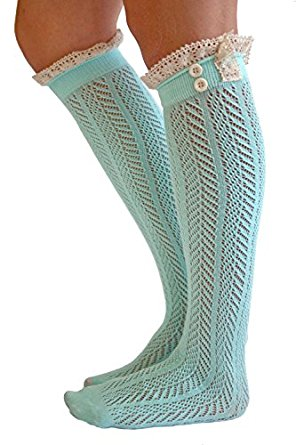 the original button boot socks with lace trim boutique socks by modern boho NTKTRNI