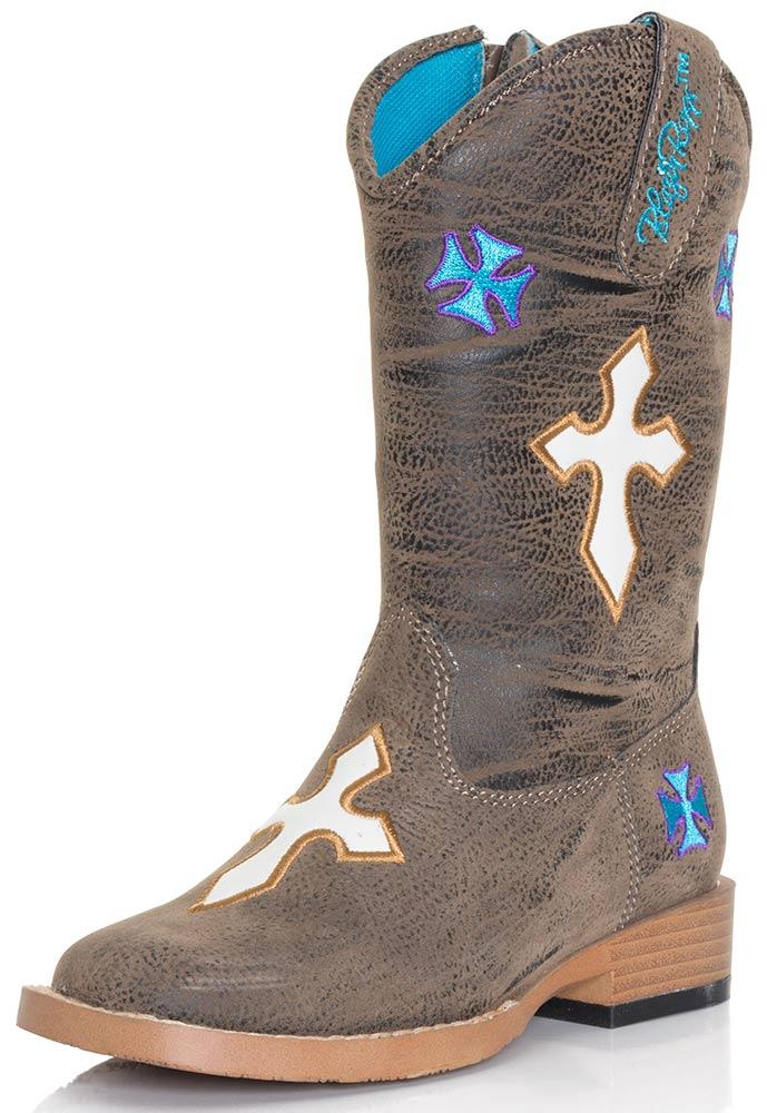 toddler boots blazinu0027 roxx girls sierra crosses zip boot - toddler sizes (4-8) RFFXFGF