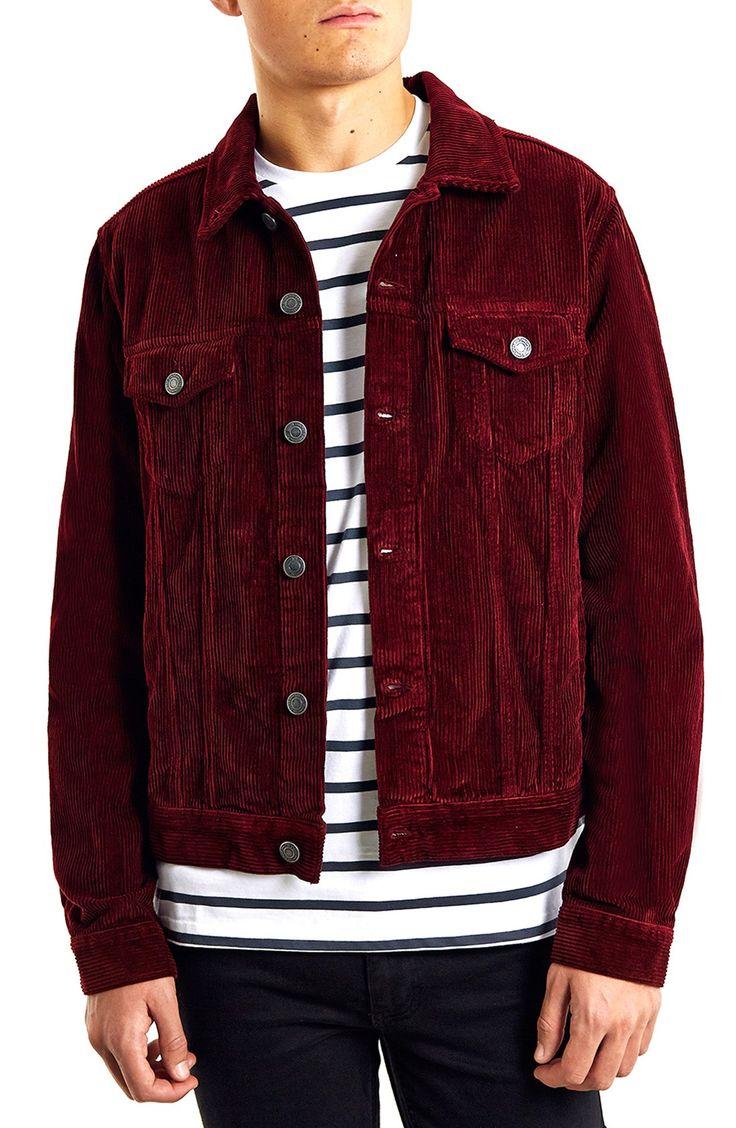 topman red corduroy jacket ZDWSOBS