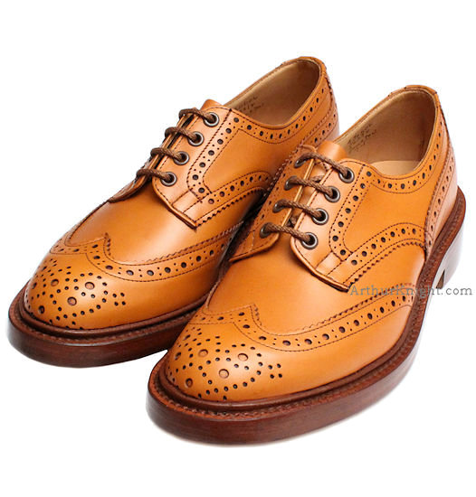 trickers bourton acorn brogue shoes from arthur knight ZJRVVBG