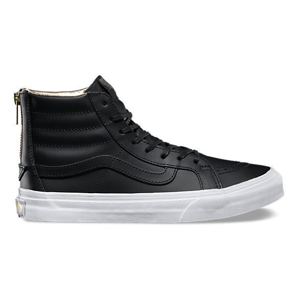 vans high tops leather sk8-hi slim zip BFWOXEH